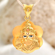 Hanuman locket in pure Gold - 2.4 gms