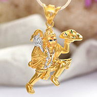 Hanuman locket in pure Gold - 2.5 gms