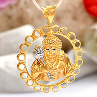 Hanuman locket in pure Gold - 3.4 gms
