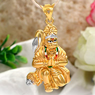 Hanuman locket in pure Gold - 3.7 gms