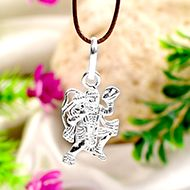 Hanuman locket in pure silver - Design I