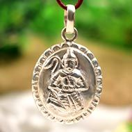 Hanuman locket - in pure silver - Design XI