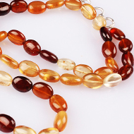 Hessonite Gomed multi oval mala - 6 mm
