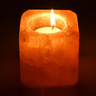 Himalayan Rock Salt Candle Lamp - Square shape