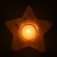 Himalayan Rock Salt Candle Lamp - Star Shape