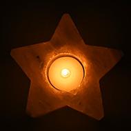 Himalayan Rock Salt Candle Lamp - Star Shape