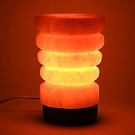 Himalayan Rock Salt Lamp - Glass Shaped Lamp