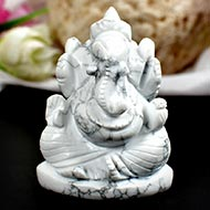 Howlite Ganesha - 105 gms