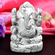 Howlite Ganesha - 251 gms
