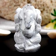 Howlite Ganesha - 37 gms