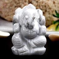 Howlite Ganesha - 45 gms - I