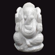 Howlite Ganesha - 45 gms