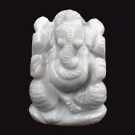 Howlite Ganesha - 60 gms