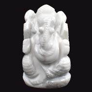 Howlite Ganesha - 70 gms - I