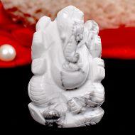 Howlite Ganesha - 82 gms