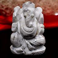 Howlite Ganesha - 84 gms