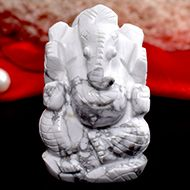 Howlite Ganesha - 85 gms