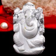 Howlite Ganesha - 90 gms