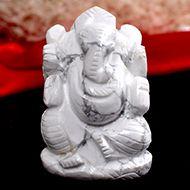 Howlite Ganesha - 92 gms - I