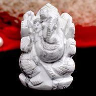 Howlite Ganesha - 92 gms