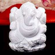 Howlite Ganesha - 93 gms