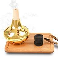 Incense Burner in Copper Gold Polish