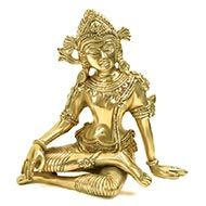 Indra Idol in Brass
