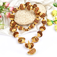 Indrakshi Mala in pure gold - I