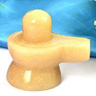 Ivory Yellow Jade Shivling- 78 gms