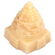 Ivory Yellow Jade Shree Yantra - 74 gms