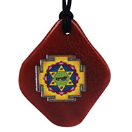 Kamdev Yantra Pendant on Orange Jade
