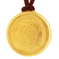 Kamla Devi Yantra Locket - Gold Plated