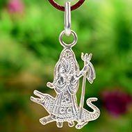 Khodiyar Maa locket in Pure Silver