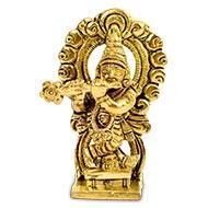 Pure Brass Krishna Idol