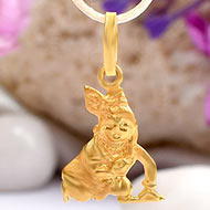 Krishna Locket in Pure Gold