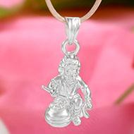 Krishna Locket in pure silver - VI