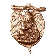 Krishna on Leaf