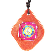 Krishna Yantra Pendant on Red Jade