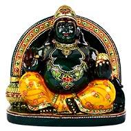 Kuber Maharaj Murti in green Jade - 1570 gms