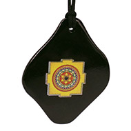 Kuber Yantra Pendant on Black  Jade