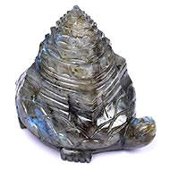 Kurma Shree Yantra in Labradorite - 336 gms