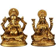 Lakshmi Ganesh in Brass - III