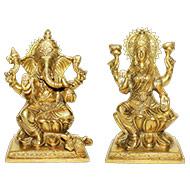 Lakshmi    Ganesh  in Brass - II