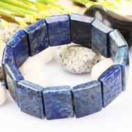 Lapis Lazuli Bracelet - Rectangular beads