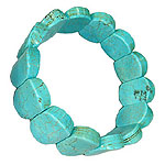 Large Turquoise Beads Bracelet - I