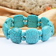 Large turquoise beads bracelet - III