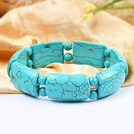 Large turquoise beads bracelet - IV