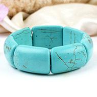Large turquoise beads bracelet - V