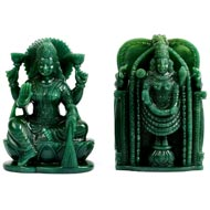 Laxmi Balaji Idol in Columbian Green Jade