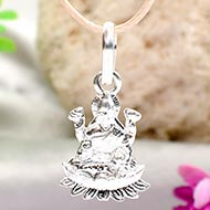 Laxmi Locket  in Pure Silver - Design III